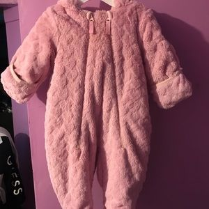 Extra Soft Pink Snow Suit